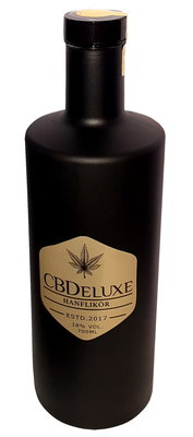 CBDeluxe Hanflikör Black Bottle 7dl