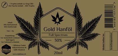 Hanföl 30% Goldlinie